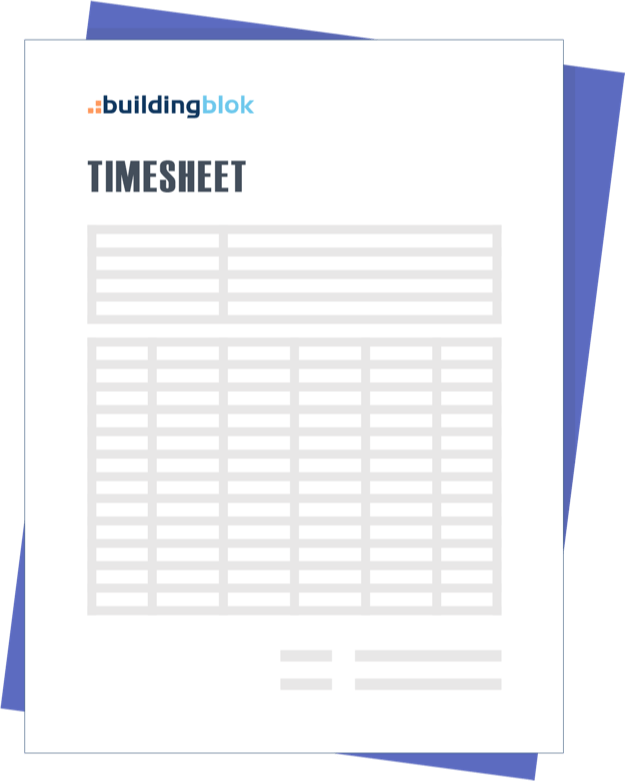 timesheets for contractors buildingblok